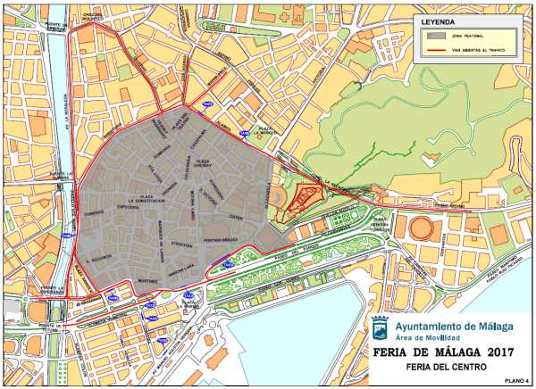 Mapa De La Zona Peatonal En La Feria De Malaga 2017